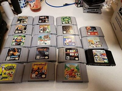 Huge N64 Cartridge Lot! (18 Games)