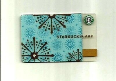 Starbucks Card Snow Flakes 2006 Vintage Siren Logo Unused Pin Intact Usa