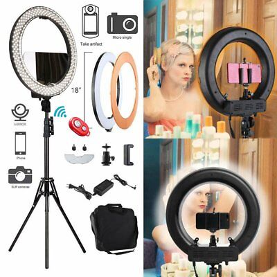 "Neewer 18"" Dimmable LED Ring Light Kit with Light Stand 6200k Camera Photo Video"