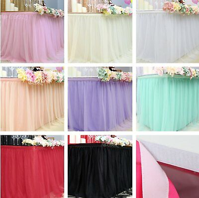 Fluffy Tutu Table Skirt Tablecloth Skirting Tulle Tableware For Party Home Decor