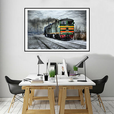 Russian Train Canvas Art Painting Poster Living Room Picture Wall Home Decor