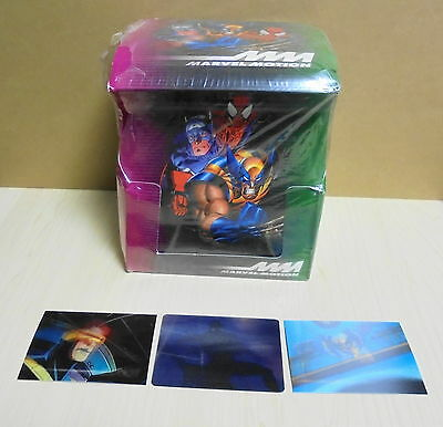 Fleer SkyBox 1996 Marvel Motion Trading Card Box plus 3 cards