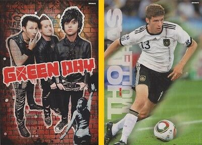 DOPPEL-POSTER ~ GREEN DAY - Thomas Müller 28 x 42 cm