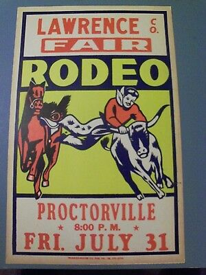Lawrence County Fair Rodeo Poster - Proctorville,ohio