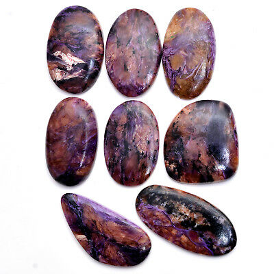100% Natural Russian Charoite Cabochon Gemstones Lot ~ 41mm-51mm~478 Cts//8 Pcs