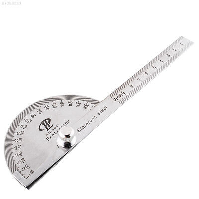 D25C Stainless Steel Rotary Protractor Angle Finder Rule Measure Gauge Tool