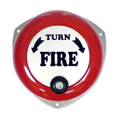 New Rotary Hand Fire Alarm Bell - Free Shipping, Uk Stock