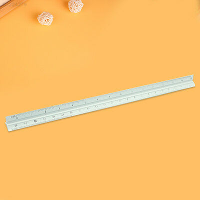 F510 30cm Alloy Triangle Scale Engineer Ruler 1:20 1:25 1:50 1:75 1:100 1:125