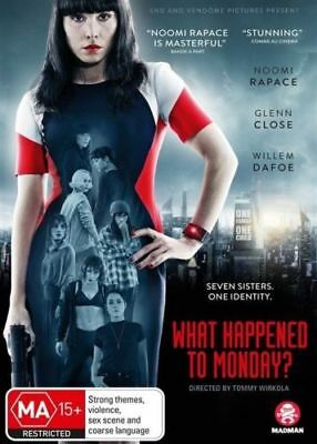 What Happened to Monday DVD 2018 MA 15 + / All DVD's $4, $6 or $8
