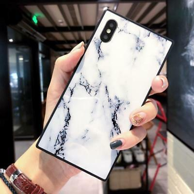 Ultra-Thin Square Marble Soft Silicone Case Cover For iPhone 6S 7 8 Plus XS Max