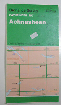 1974 Old OS Ordnance Survey 1:25000 Pathfinder Map 157 Achnasheen NH 05/15