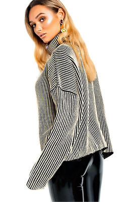 02425bbaafd Women New Ladies Ribbed Black jumper dress Roll Neck Long Comfy Lounge 8-14