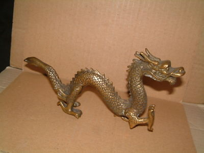 Superb Chinese Brass Dragon Figure