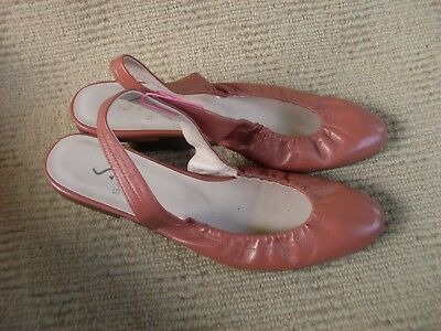 Excellent N/new Sachi Sling Back Leather Ballet Flats. Size 7 - 38