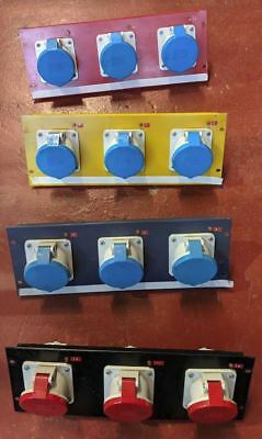 63 Amp Panel Mounted Outlets: 9x Single Phase, 3x Triple Phase