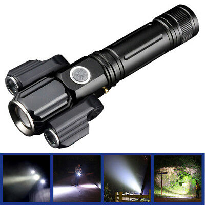 4-Modes LED Rotatable Light Flashlight USB Charging Outdoor Night Fishing Torch