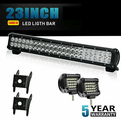 7D+ 23Inch 576W Led Light Bar Spot Flood Offroad Dual Row 4WD Truck ATV UTE 24