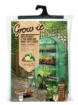 New Extra Wide 4 Tier Grow Arc Growhouse Garden Greenhouse for Salad Pot Plants