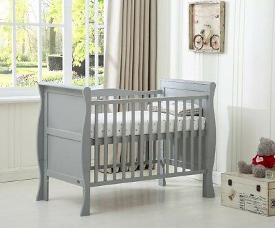 MCC Solid Wood 3-in-1 Sleigh Cotbed/Junior Bed/Sofa (Grey)