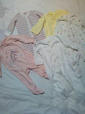 Baby Girls Clothes Bundle Joblot Age 3-6 Months Sleep suits Next and F&F