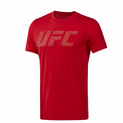 Reebok Official UFC Logo Primal Red T-Shirt NEW (Size's M,L,XL)