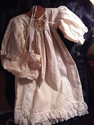 Vintage Baby Baptismal/Christening Dress, Matching Bonnet & Hanger