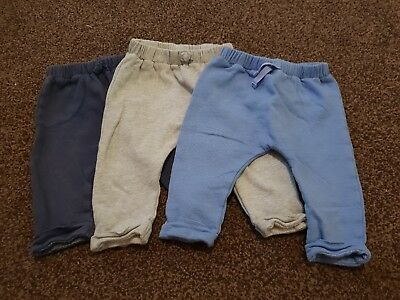 """Boys """"Next"""" x3 Joggers (Navy, Blue and Grey)  6 - 9 months"""