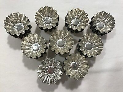 88 Vtg Sweden Fluted Pastry Molds - Mini Metal Cookie Candy Tart Tin