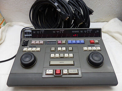 Sony Editing Control Unit PVE-500, 4 RS232 Kabel Videomischer