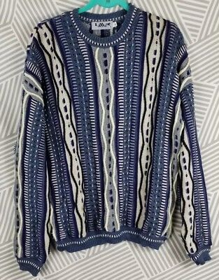 New Mens Look Brand Bill Cosby Multi Colored 3d Coogi Style Sweater