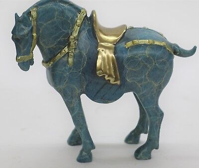 Numbered Chinese Tang Horse Bronze Sculpture Museum Quality Figurine Figure Deco