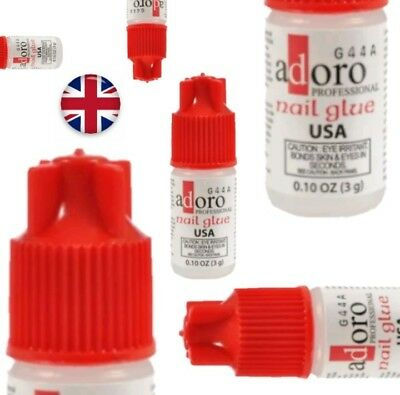 Professional Extra Strong Nail Art Glitter Glue For Fake Arcylic Tips UK STOCK