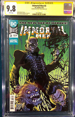 Jim Lee Signed Original Sketch Art Cgc 9.8 Batman Man Who Laughs Cbcs Metal