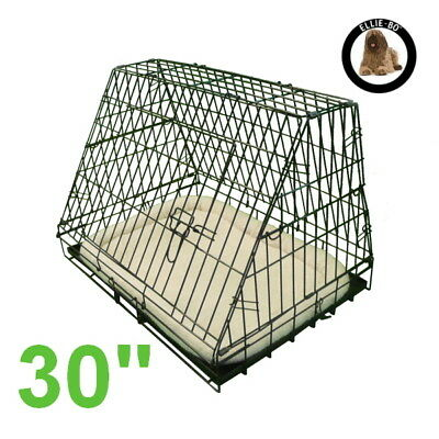 """Black 30"""" Deluxe Medium Sloping Foldable Car Dog Puppy Crate Hatchback Cage"""