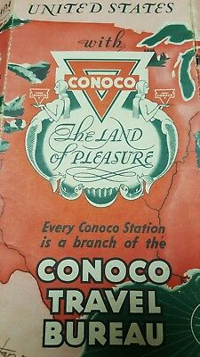 Conoco Official Road Map United States, H.M.  Gousha CO. 1940s?