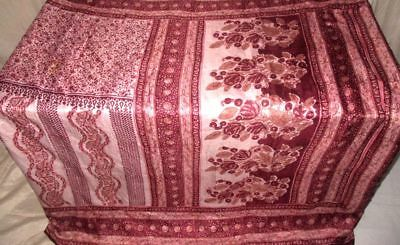 Cream Coffee Pure Silk 4 yard Vintage Sari Saree Girls Market Shop TRENDY #9EEM4
