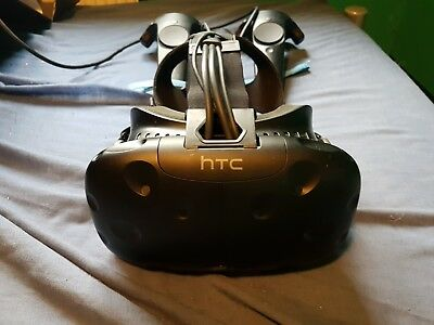 HTC Vive 99HALN00300 Virtual Reality Headset - Black works see description