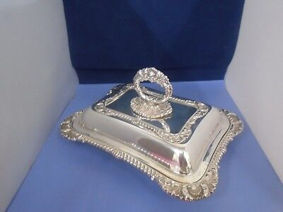 2 Good Quality Heavy Vintage Silver Plated Serving Dishes with Lids