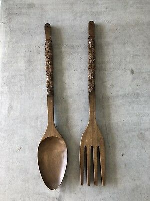 Vintage Wooden spoon and Fork Decor