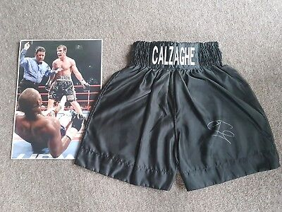 Joe Calzaghe Signed Boxing Shorts