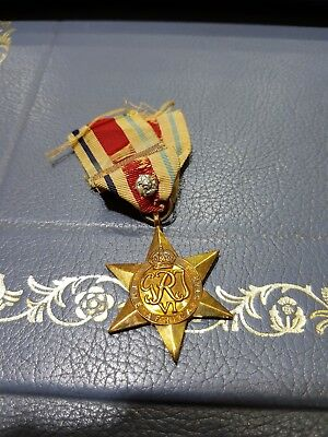 The Africa Star With North Africa 1942-43 Clasp And Silver Rose.full Size Medal