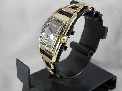 "ULTRA RARE 1940`s BULOVA      "" TUXEDO DIAL""       * MONTGOMERY *    MEN`S WATCH"