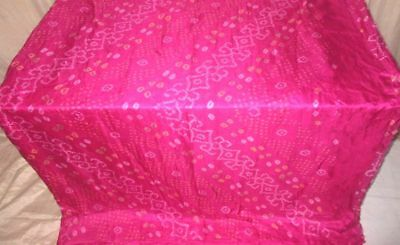 Rani Pure Silk 4 yard Vintage Sari Saree Pattern Patterns GIFT Pallu Chic #9EEN9
