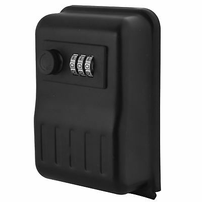 Outdoor 3 Digit Code High-Security Wall Mounted Key Safe Box Secure Lock Storage