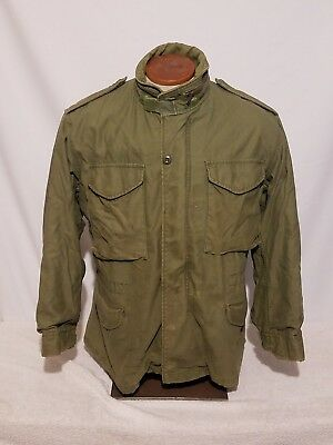 Vintage US Army M-65 Field Jacket Coat Cold Weather Sz Small Short