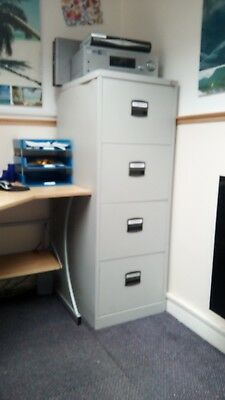Silver Four Draw Filing Cabinet