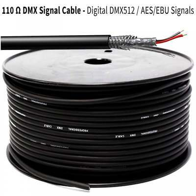 DMX512 DMX Cable 3Pin Coil Screened 100m Reel 110 Ohm AES/EBU Lighting Signal