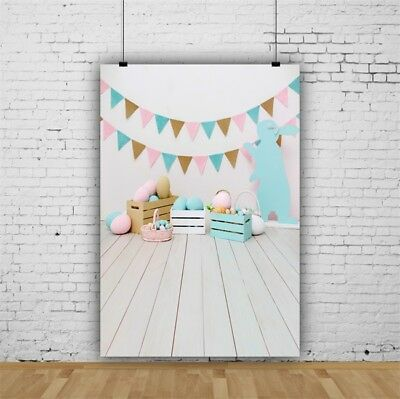 Easter Party Decoration Backdrop 5x7ft Portrait Banner Photography Background