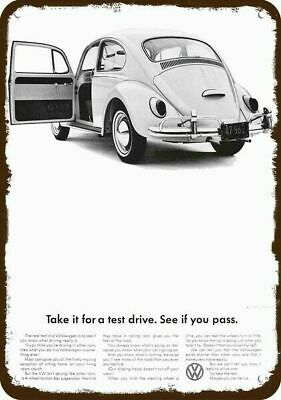 1966 VOLKSWAGEN BEETLE VW BUG Vintage Look REPLICA METAL SIGN UGLY