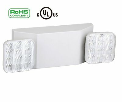 LED Emergency Exit Light, Dual Head Hardwired with Battery Back-up Ultra Bright